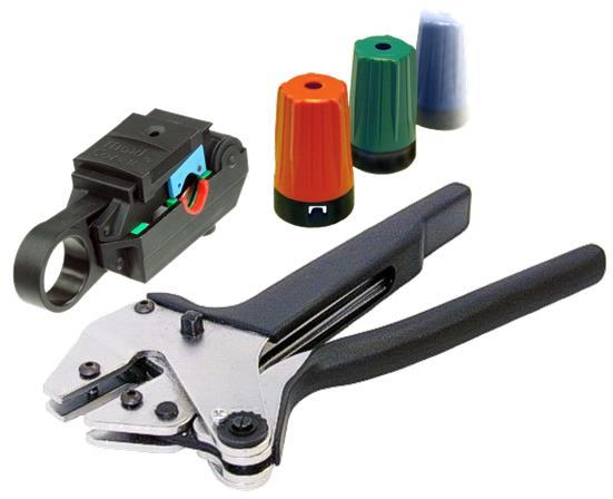 BNC-liitintarvikkeet ja työkalut