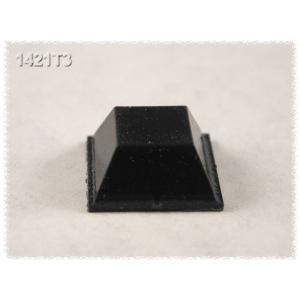 Kumitassu 13 x 13 x 6 mm, musta, 24 kpl/pss