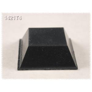Kumitassu 21 x 21 x 8 mm, musta, 24 kpl/pss