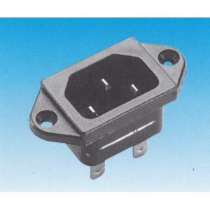 IEC C14 kojerunkouros, 6,3mm lattaliittimet