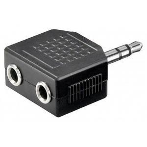 3,5mm stereoplugi / 2x3,5mm st.jakki, muovia