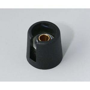 OKW COM-KNOBS Ø16 with slot, nero, 4 mm
