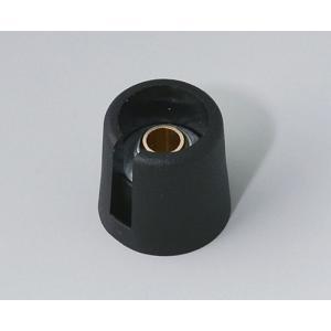 OKW COM-KNOB Ø16 with slot, nero, 6 mm
