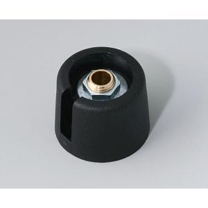 OKW COM-KNOB Ø20 with slot, nero, 6 mm