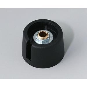 OKW COM-KNOB Ø23 with slot, nero, 4 mm