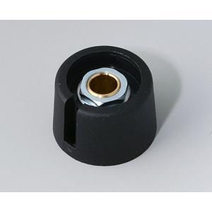 OKW COM-KNOB Ø23 with slot, nero, 6 mm