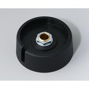 OKW COM-KNOB Ø40 with slot, nero, 6 mm