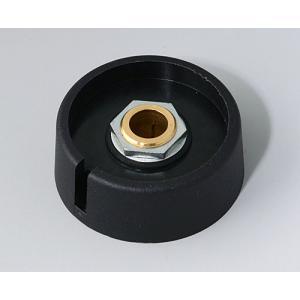 OKW COM-KNOBS Ø40 with slot, nero, 8 mm