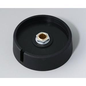 OKW COM-KNOB Ø50 with slot, nero, 6 mm