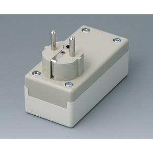 OKW PLUG CASE F/D, 100x50x40 mm, Vers. I
