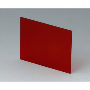 OKW red transparent front/rear panel