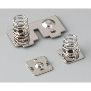 SOFT-CASE M battery clips, Ni-plated, 2xAAA