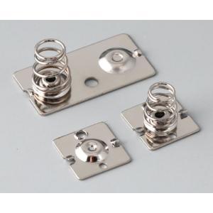 OKW SOFT-CASE L/XL batt. clips, Ni-plated, 2/