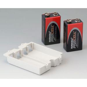 Battery compartment, 2 x 9 V