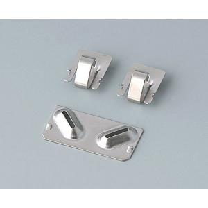 SET OF BATTERY CLIPS nickel-plated