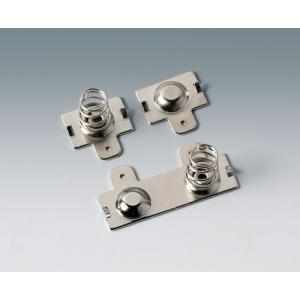 Battery clip set, 2x AA, nickel-plated