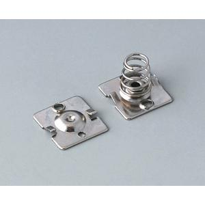 Battery clip set, 4 x AA, nickel-plated
