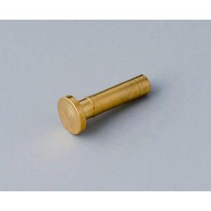 Contact pin, unipolar, gold-plated, 15A
