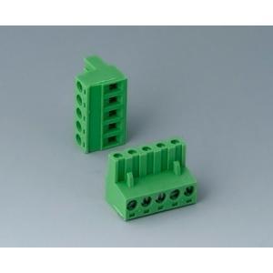 Plug header female, pitch 5,08 mm, 5-pin