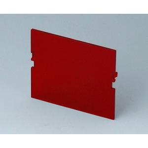 Front panel, 3 modules, red transp.,RT B