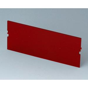 Front panel, 6 modules, red transp.,RT B