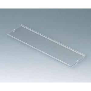 RAILTEC B transparent lid, 9 modules