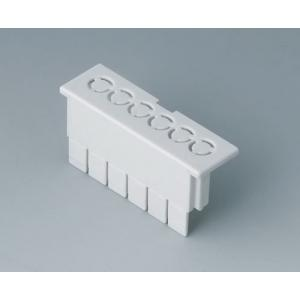 RAILTEC B term. cap flat, perf. 5,0 mm/6-pin