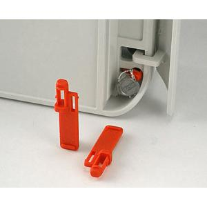 OKW SMART-BOX security plug set, red, 2 pcs