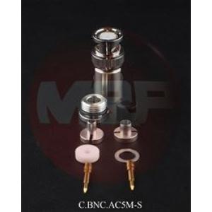 50 ohm BNC-urosliitin (5 mm), juotettava