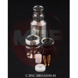 50 ohm BNC-urosliitin (10 mm), juotettava