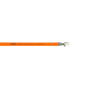 CAT6A FRNC-kaapeli, U/FTP, AWG 23/1, Ø7,3mm