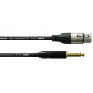 Laitekaapeli 3 m, XLR-naaras/¼'' stereoplugi