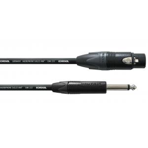 PRO-mikrofonikaapeli 5 m, naaras/monoplugi