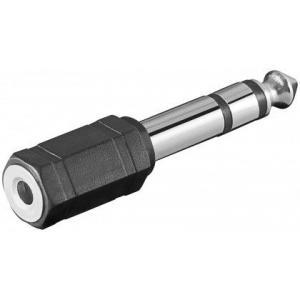 3,5mm stereojakki / 6,3mm stereoplugi, muovia