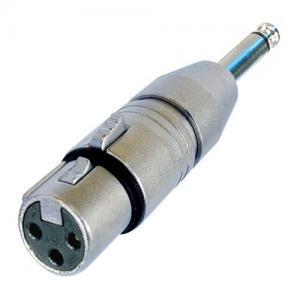 Neutrik NA2FP adapteri XLR-3F / 6,35mm plugi