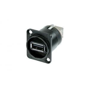 Neutrik NAUSB-W-B USB2 läpivientiliitin